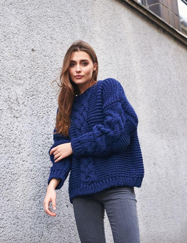 Sweaters & Vests – SWETER O BARDZO GRUBYM SPLOCIE W KOLORZE GRANATU. – a unique product by SO-me-concept-shop on DaWanda