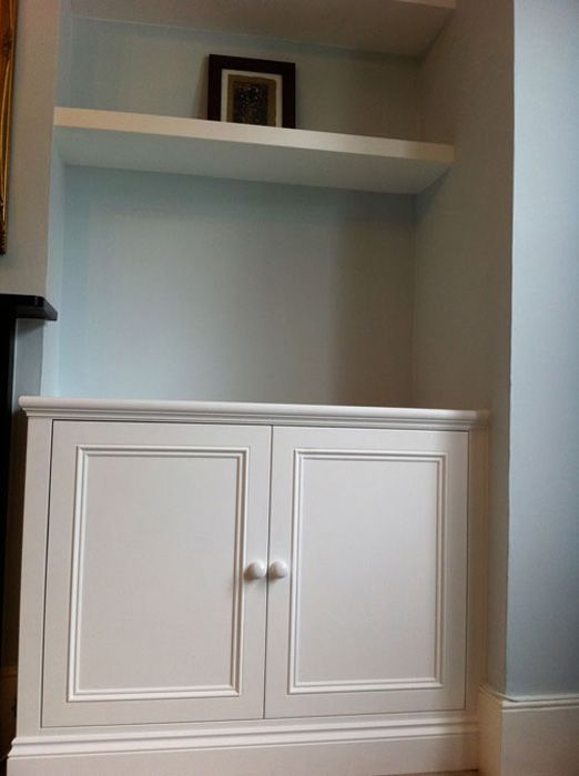 next to banquette, more use of above space? The Original Cupboard Company: Classic Victorian style
