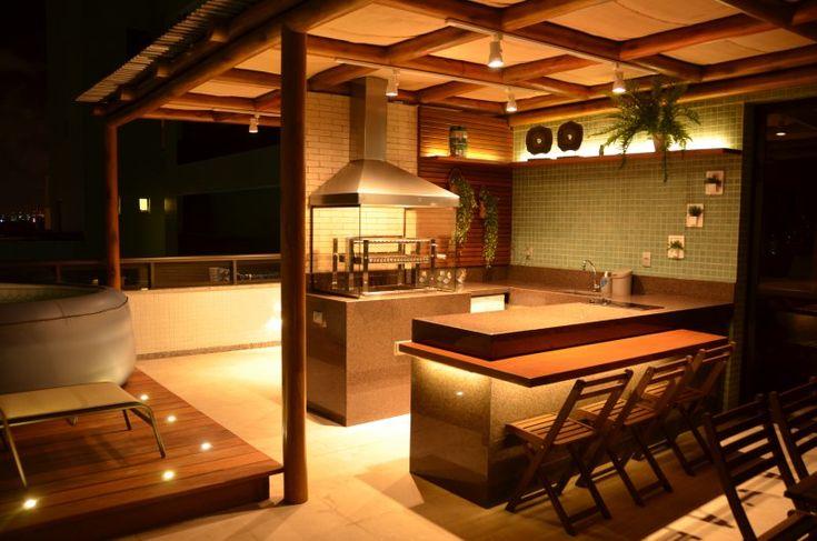 o espaço gourmet é um ambiente de lazer para a família e amigos