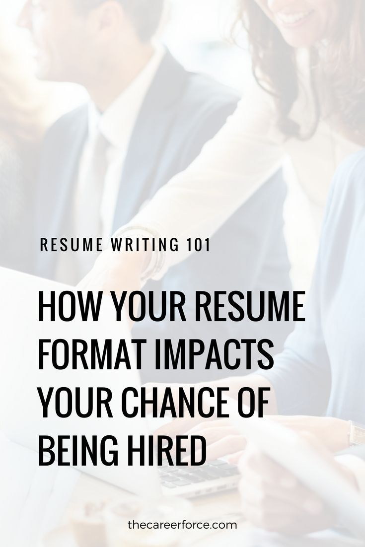 does my resume format matter