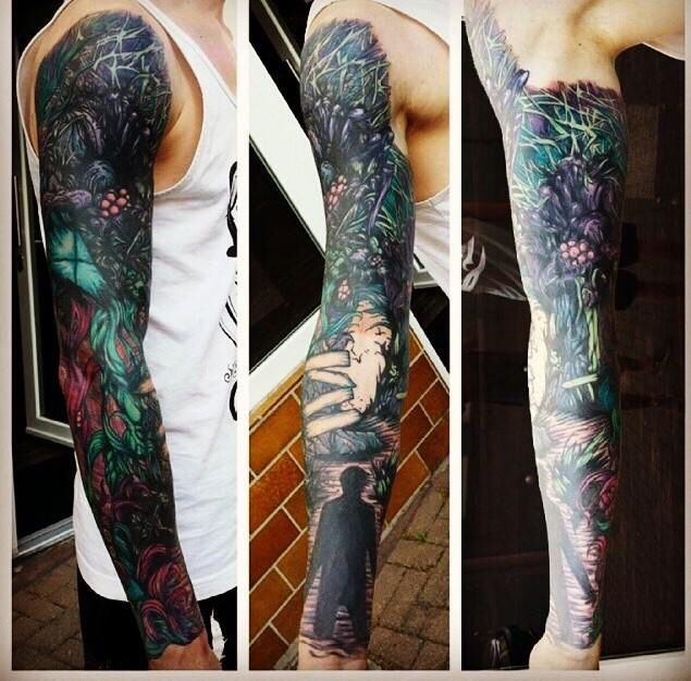 Homesick adtr sleeve | Tattoos | Full sleeve tattoos ... A Day To Remember Homesick Tattoos
