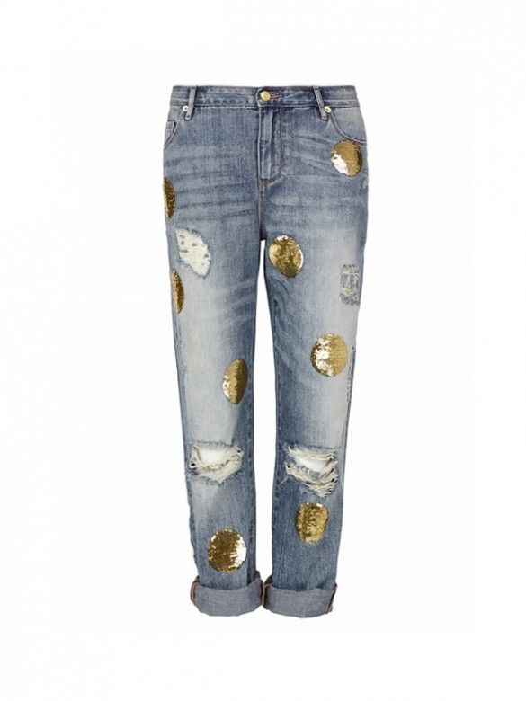 Will you give embellished jeans a try? // Out of Sight Distressed Boyfriend Jean by sass & bide