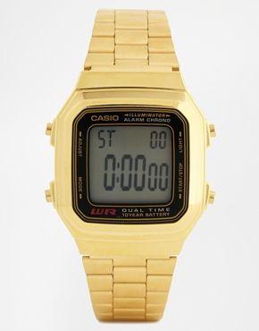 Casio Gold Digital Vintage Style Watch A178WGA-1 0 - http://www.asos.com/Casio/Casio-Gold-Digital-Vintage-Style-Watch-A178WGA-1/Prod/pgeproduct.aspx?iid=4199178&cid=17185&sh=0&pge=0&pgesize=204&sort=-1&clr=Gold