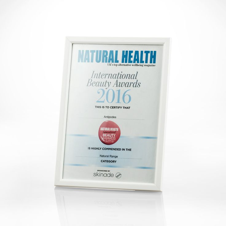 We are proud to announce that Antipodes was highly commended in the Natural Health International Beauty Awards 2016 for the Natural Range category.
