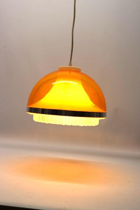 Schöne 70er Jahre Kugel Pendel Lampe