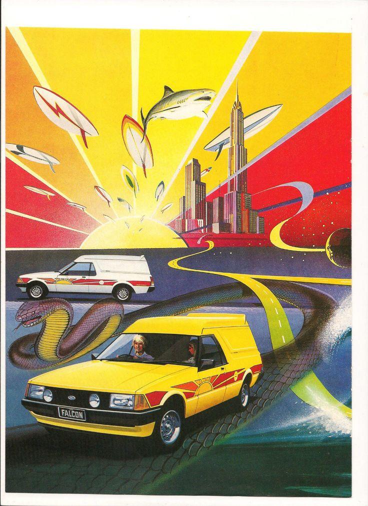 Original Vintage 1980 Ford Sundowner Range Australian 2 Page Color C Fold Poster | eBay