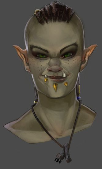 orc woman sword and shield - Google Search