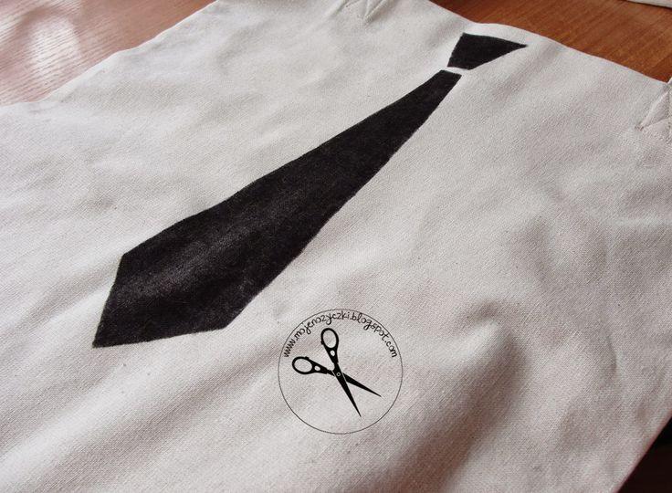 Nadruk na torbie na zakupy diy sewing malowanie
