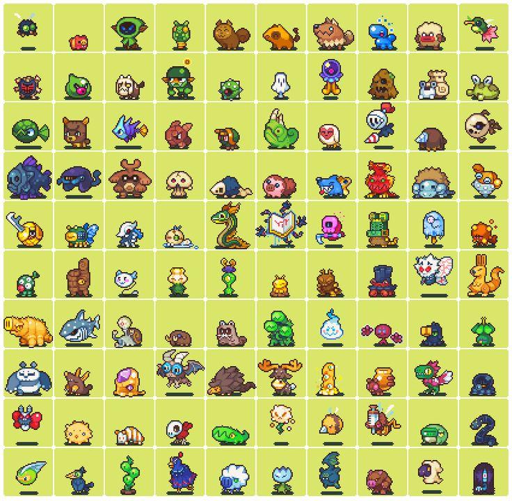 """2 x 100 Pixel Art Pieces: """"Monsters + Characters"""" Pixel Artist:neorice Source: deviantart.com(1)(2)"""