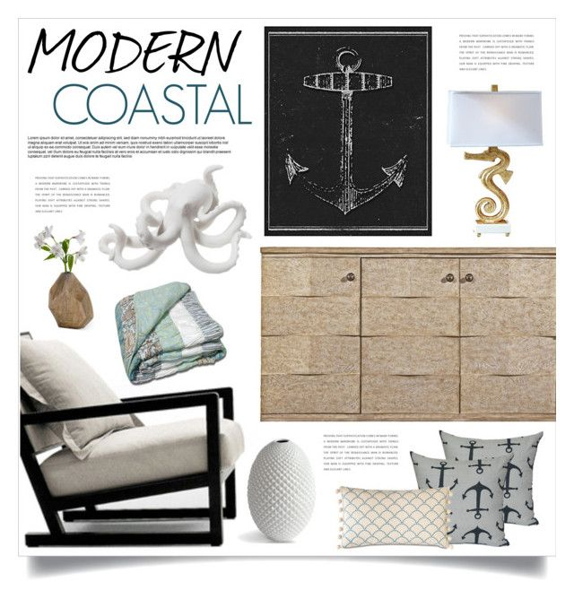 Modern coastal by retrocat1 liked on polyvore featuring Xhilaration home decor