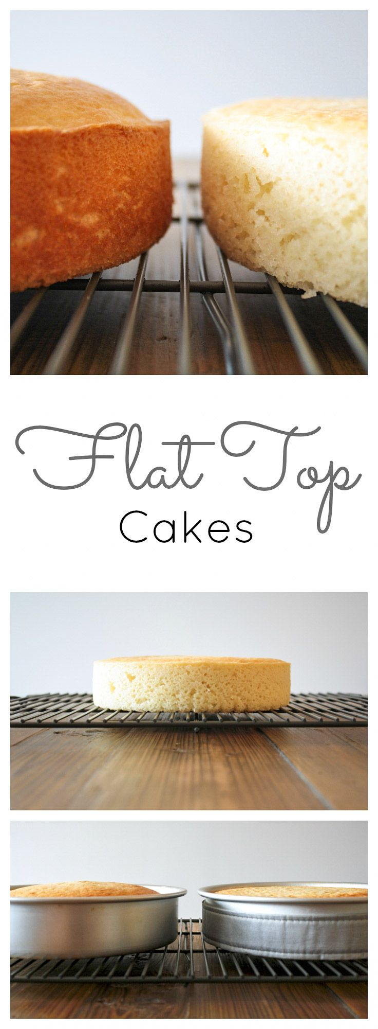 Learn how to get perfectly flat cakes every time! Click through for tutorial!