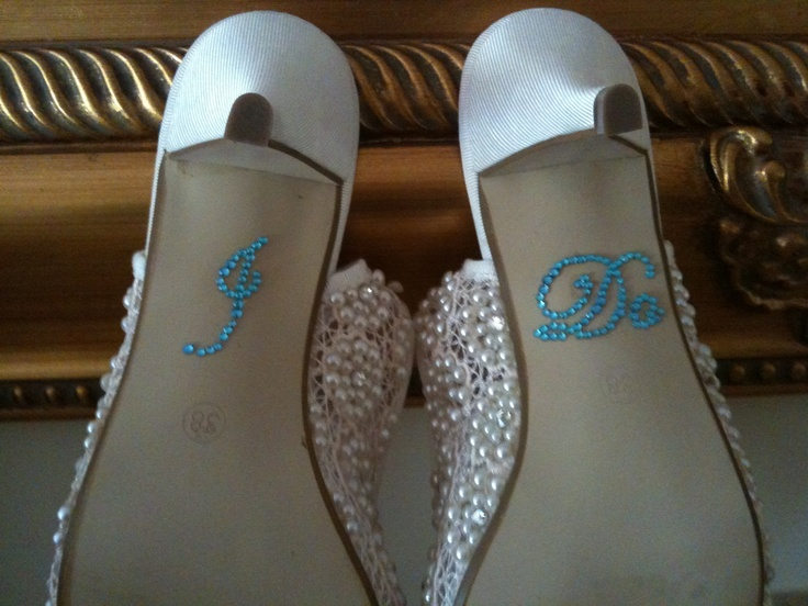 Lovely way of having your something blue for your special day .