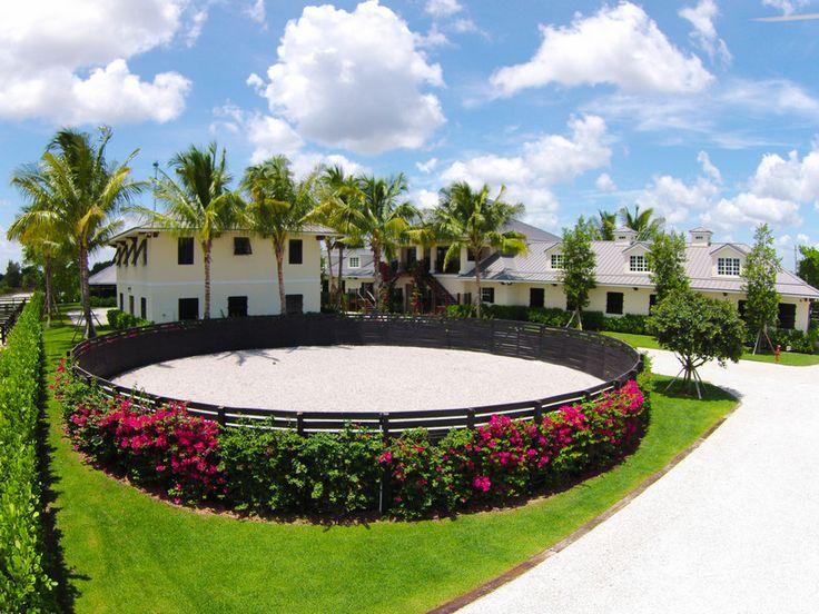 Evermore Farm - spectacular equestrian facility in Wellington, FL - round pen