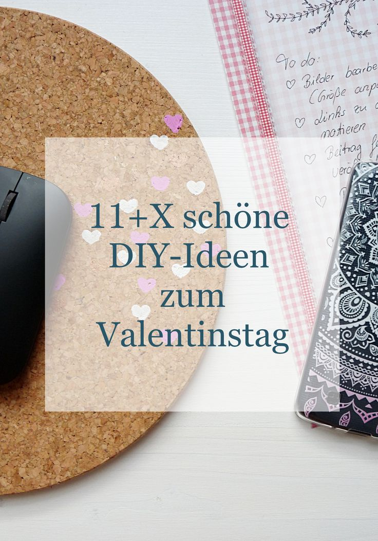 sch ne diy ideen zum valentinstag mousepad aus kork selber machen diy handgemachtes. Black Bedroom Furniture Sets. Home Design Ideas