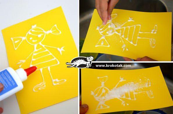 Творчество для малышей. Рисунки солью