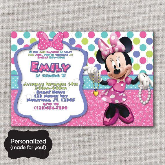 best 25+ minnie mouse invitation ideas on pinterest | minnie, Party invitations