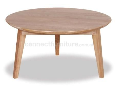 COPENHAGEN SOLID OAK ROUND COFFEE TABLE RELXHCTS79