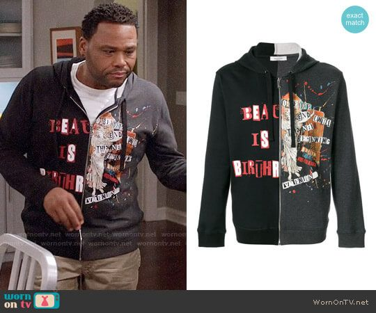 ba8998f18a Andre s beauty graphic Hoodie on Black-ish. Outfit Details  https   wornontv.net 87860    Blackish