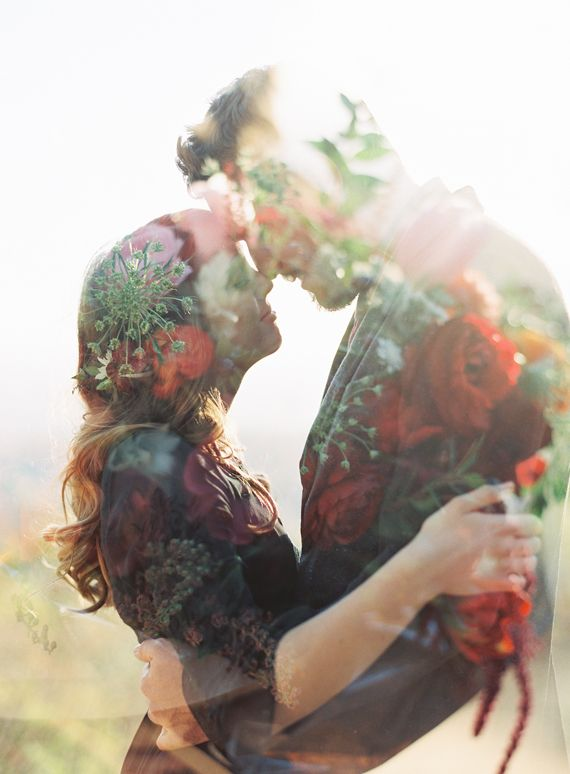 Romantic Griffith Park engagement shoot | Photo by Michael Radford Photography | Read more - http://www.100layercake.com/blog/?p=85180 Double Exposure