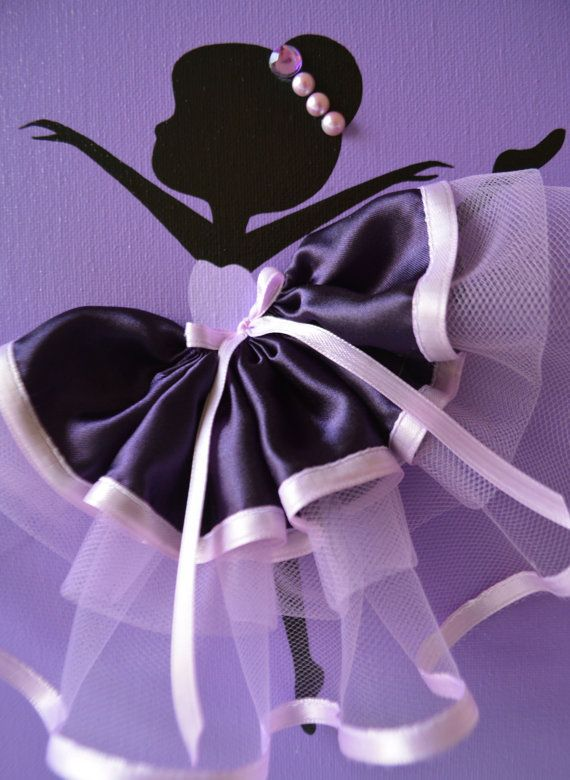 Ballerina wall art. Nursery wall decor in purple and by FlorasShop
