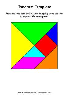 coloured tangram to print