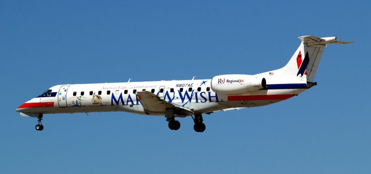 "American Eagle Airlines | Datei:American Eagle Airlines ""Make A Wish"" Embraer ERJ-145LR N807AE ..."