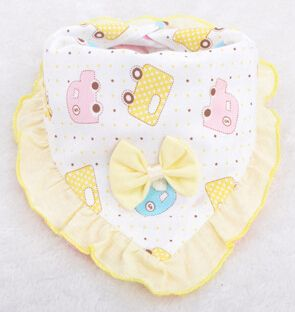 50pcs different color Waterproof bib Scarf Saliva Apron Towel baby clothing infant lunch wear