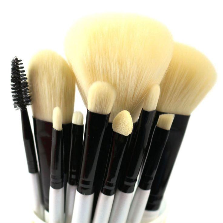 Professional Makeup Brushes Set 10 Pieces Soft Makeup Tools Kit -- Tried it! Love it! Click the image. : Makeup bag
