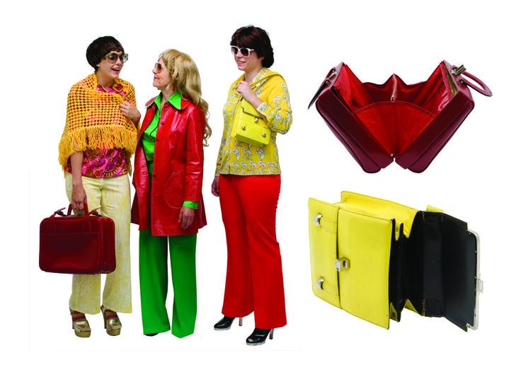 1970 - pantalons et jersey façon pattes d'eff, blouses, châles, blousons et sacs, collection privée © Solo-Mâtine