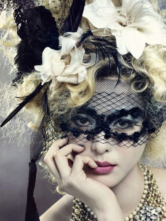 A Black Lace Masquerade Mask