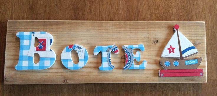 Een leuk geboorte kadootje, gemaakt door Het Stoepke Harlingen, we maken ook plankjes op bestelling