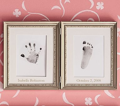 Baby frame.Hands Prints, Baby Hands, Foot Prints, Cute Ideas, Footprints Frames, Hand Prints, Baby Prints, Baby Room, Pottery Barn