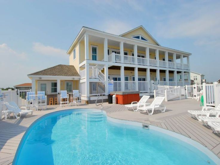 Admiral's Watch a 7 Bedroom Oceanfront Rental House in Emerald Isle, part of the Crystal Coast of North Carolina. Includes Private Pool, Hot Tub, Hi-Speed Internet, Linens