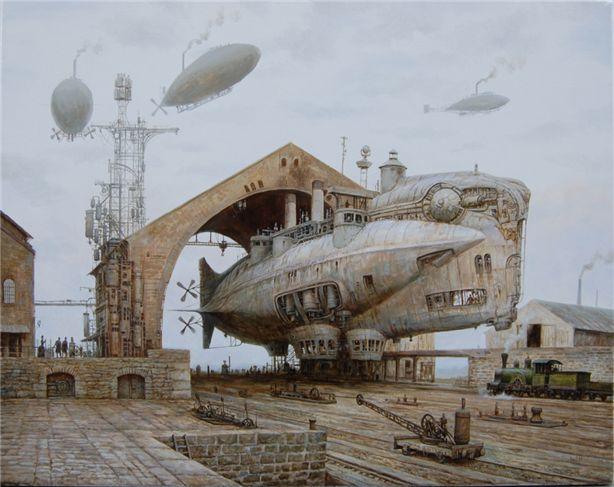 Thunderer: Iron-clad dirigible by Vadim Voitekhovitch