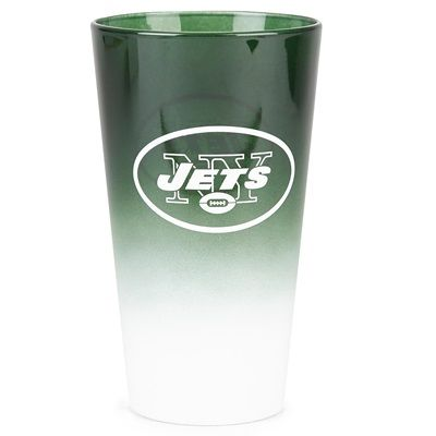 New York Jets 16oz OMBRE Pint Glass: New York Jets 16oz OMBRE Pint Glass