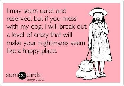 hurt my dog and i will rip your jugular out with my bare hands.