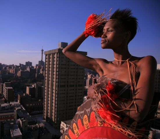 Braveheart cushion. Shot on location at Intermission Studio rooftop in downtown Joburg.