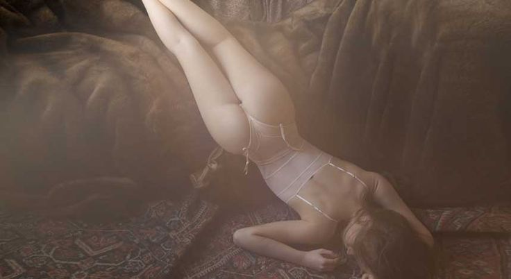 Lingerie unusual pose