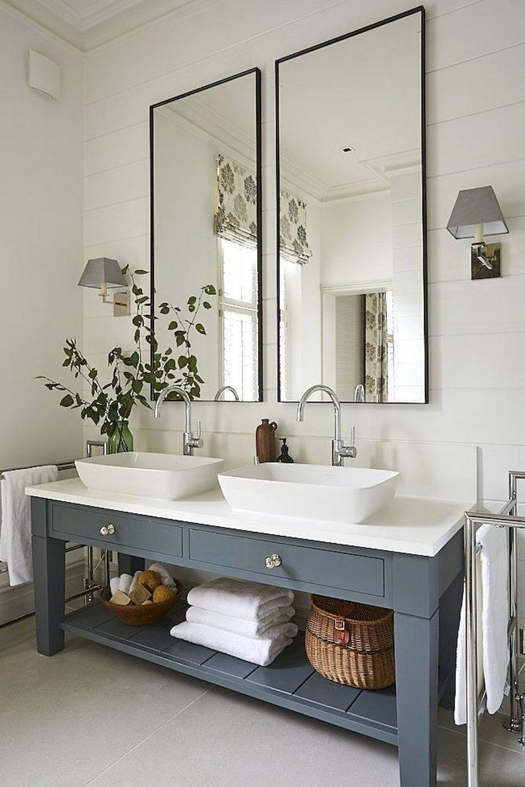 62 Easy Farmhouse Bathroom renovation designs for your bath