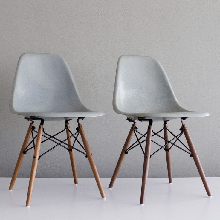 Exceptional Eames DSW Chairs Seafoam Pair Now Featured On Fab.