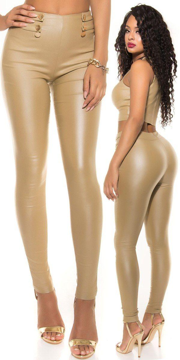 Dámské legínové kalhoty béžové