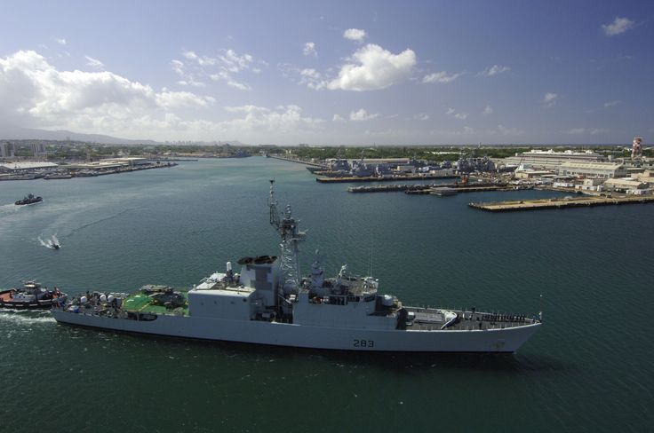 Her Majesty's Canadian Ship (HMCS) Algonquin (DDH 283) departs from Pearl Harbor to participate in exercise Rim of the Pacific (RIMPAC) 2006. Eight nations are participating in RIMPAC, the world's largest biennial maritime exercise. Conducted in the waters off Hawaii, RIMPAC brings together military forces from Australia, Canada, Chile, Peru, Japan, the Republic of Korea, the United Kingdom and the United States.