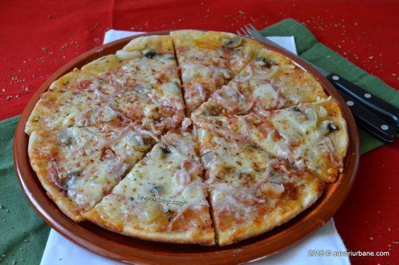 Pizza la tigaie reteta rapida - o pizza simpla si rapida pentru cei care nu dispun de un cuptor sau doresc sa faca repede o pizza la tigaie. Practic nu se