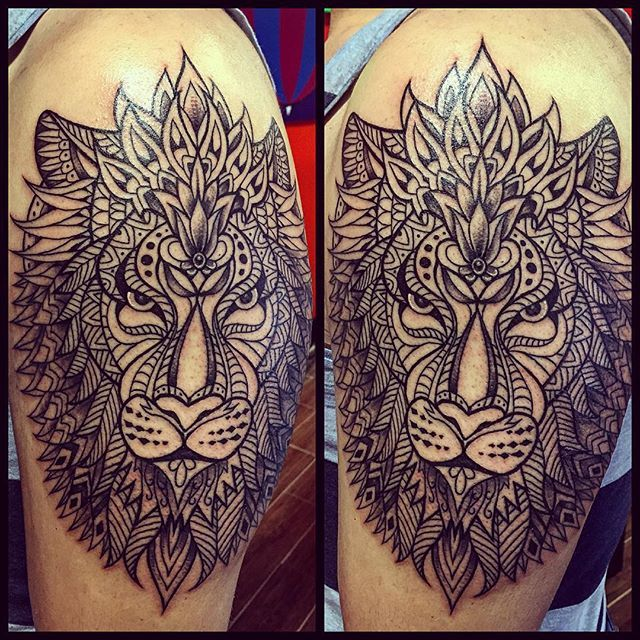 Mehndi Lion Tattoo : Best images about tattoo s on pinterest lotus