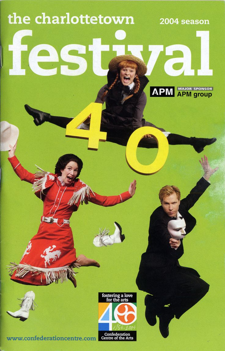 2004:	Anne of Green Gables – The Musical™ -The Musical™, 	Something Wonderful, 	A Closer Walk with Patsy Cline, 	Broadway Heroes, 	Les Feux Follets, Fête acadienne, Musique de l'Acadie, 	The Cottars, 	Island Flavours.