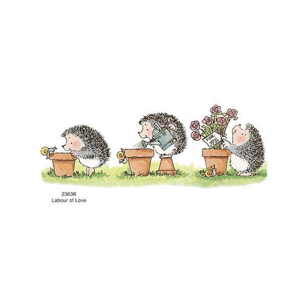 *Happystampers Penny Black Rubber Stamps Hedgehog Stamps found on Polyvore