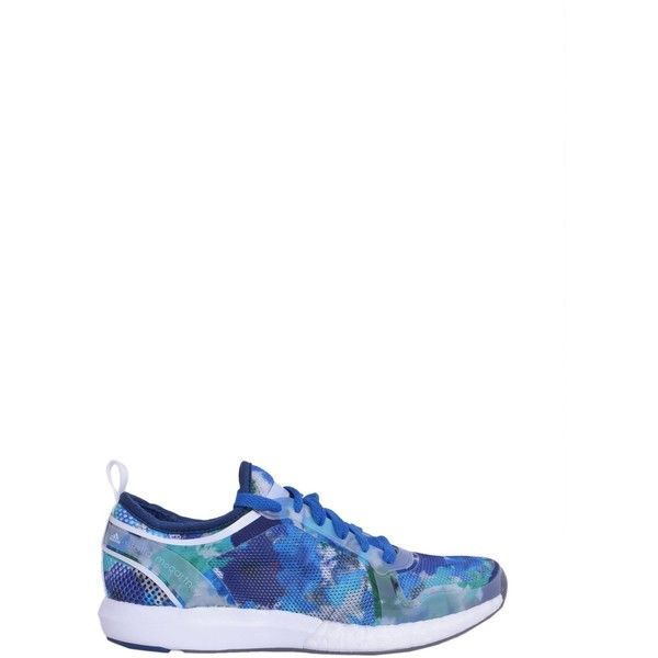 Adidas by Stella McCartney Sneakers ($140) ❤ liked on Polyvore featuring shoes, sneakers, blu, lace up shoes, adidas trainers, climacool shoes, adidas shoes and adidas