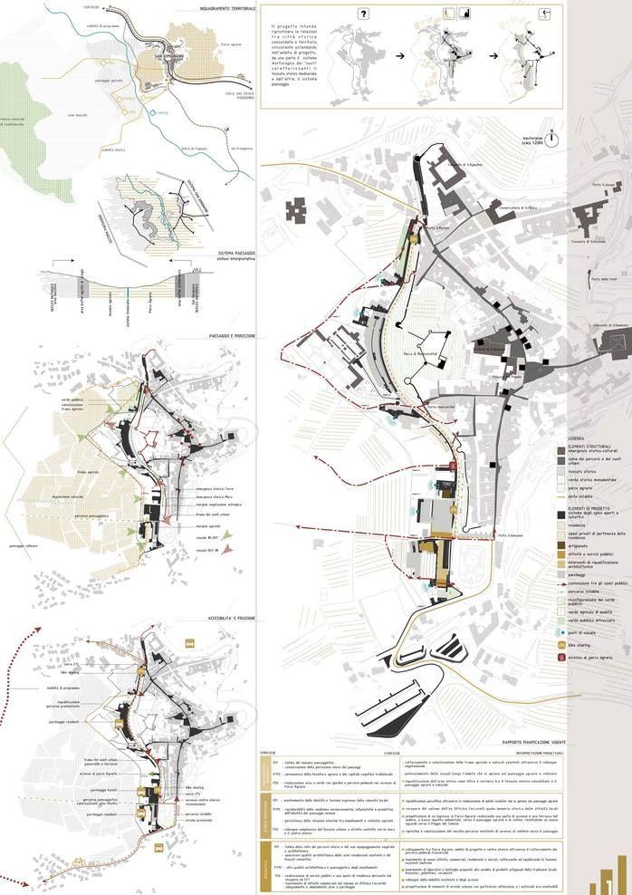 bianchivenetoarchitetti (2013): Riqualificazione urbanistica e paesaggistica fascia periurbana ad ovest delle mura. San Gimignano (IT), via divisare.com