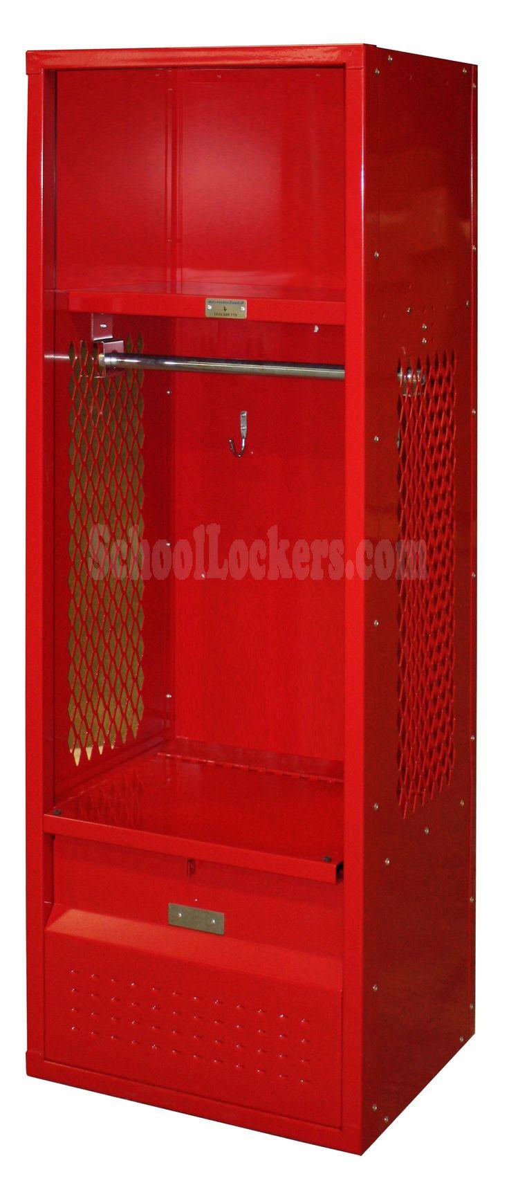 red kids team locker from schoollockers.com