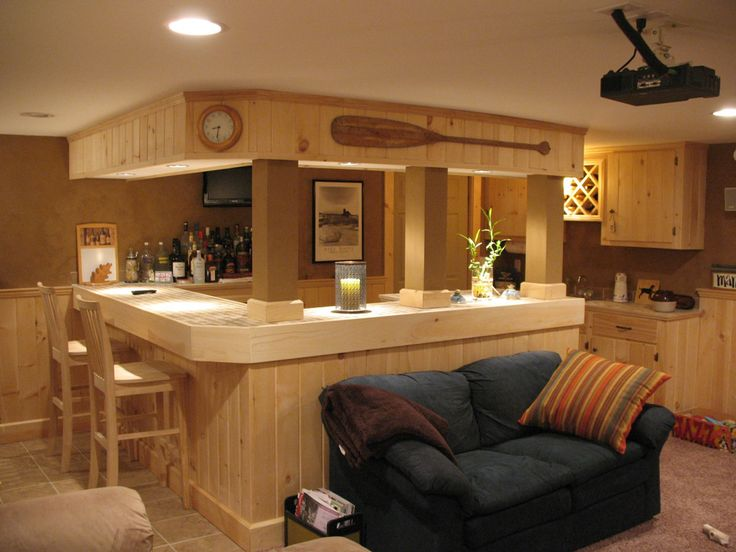 Unbelievable Basement Style with Minimalist Man Cave Furniture